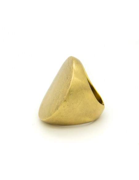 Statement ring of bronze greek handmade gold RHO