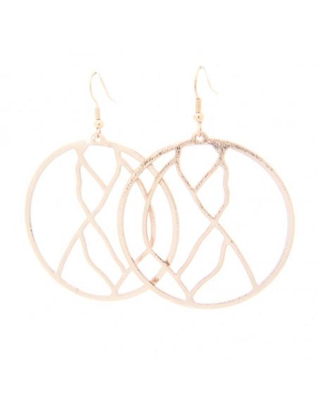 Σκουλαρίκια κρίκοι από μπρούτζο ροζ χρυσό ERAS
