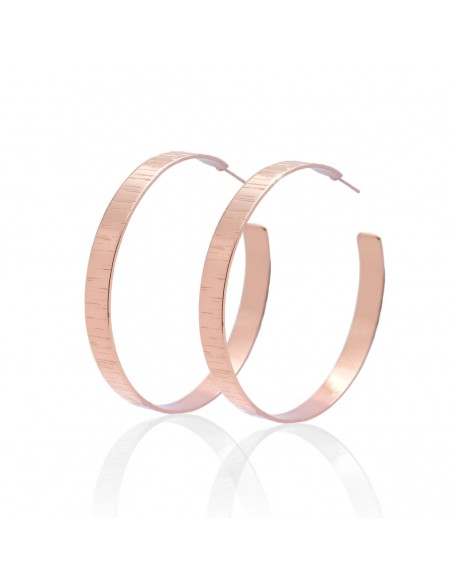 Hoop earrings of bronze rose gold TRED