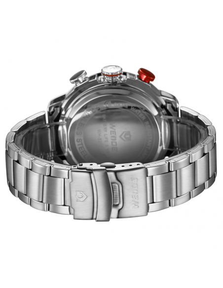 Men's wrist watch WEIDE 10122 with silver stainless steel band 2