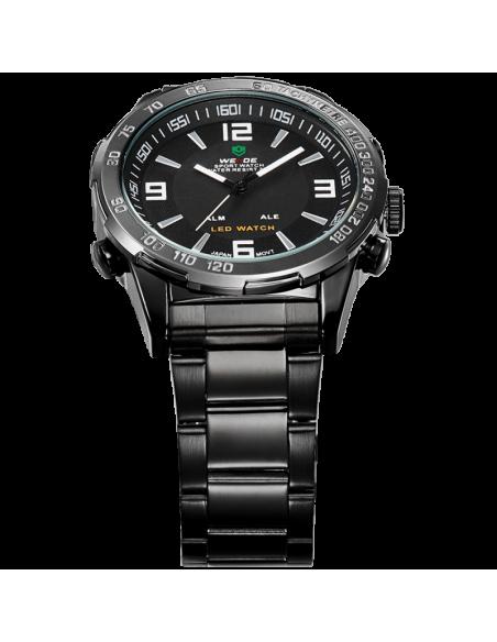 Ρολόι ανδρικό WEIDE 10332 με μαύρο μεταλλικό μπρασελέ 4