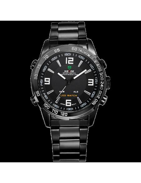 Ρολόι ανδρικό WEIDE 10332 με μαύρο μεταλλικό μπρασελέ