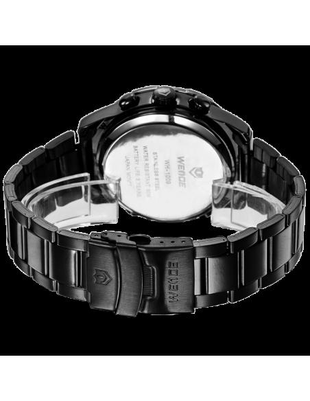Ρολόι ανδρικό WEIDE 10332 με μαύρο μεταλλικό μπρασελέ 3