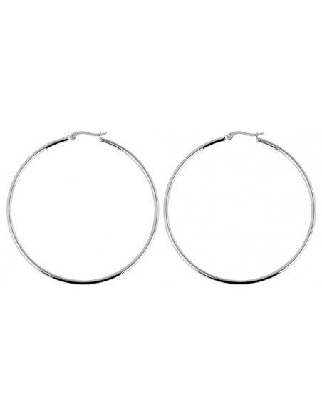 Hoop earrings 65mm from stainless steel 3