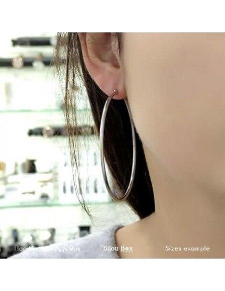 Σκουλαρίκια κρίκοι 65mm από ατσάλι 2