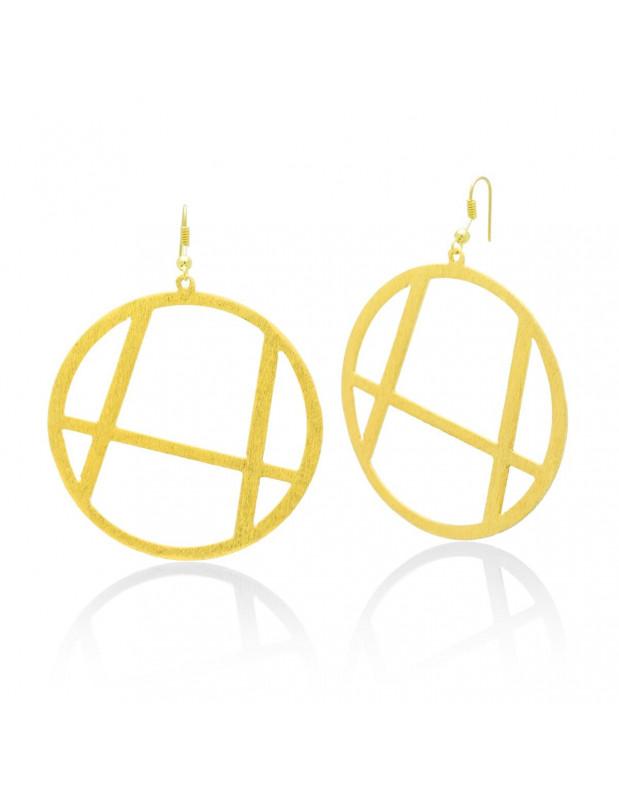 Hoop earrings handmade gold XETA