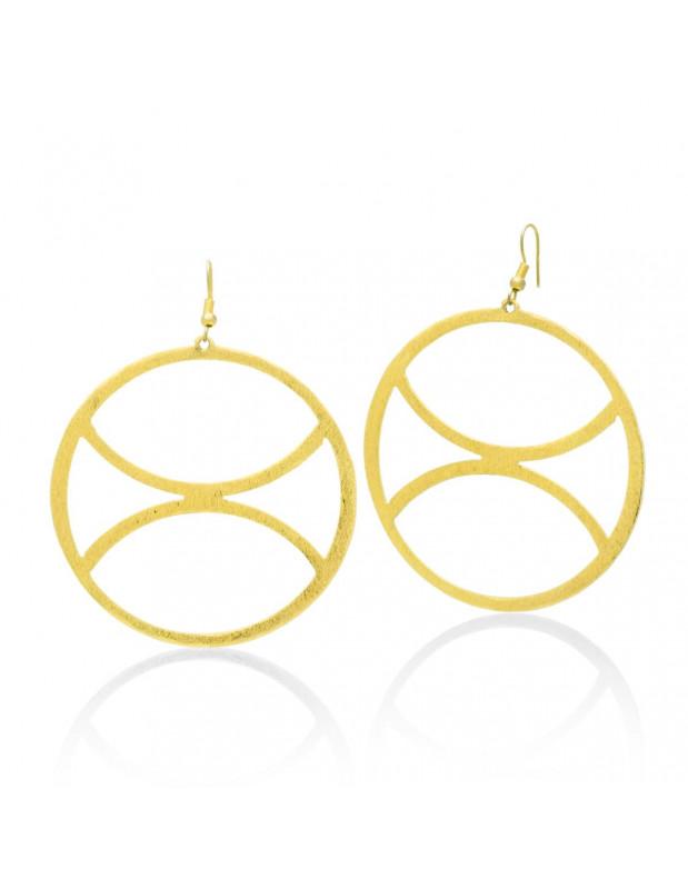 Hoop earrings handmade gold ZETA