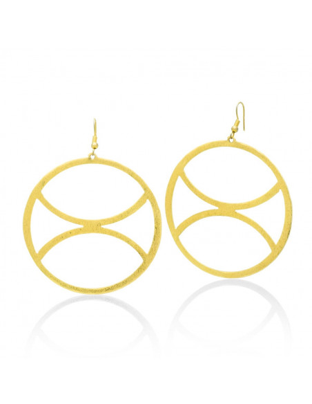 Hoop earrings handmade gold ZETA