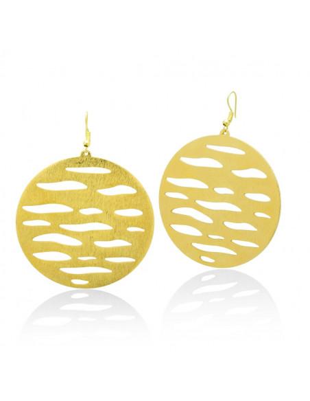 Hoop earrings handmade gold ZEBRA