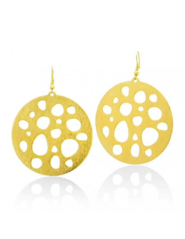 Hoop earrings handmade gold TERA