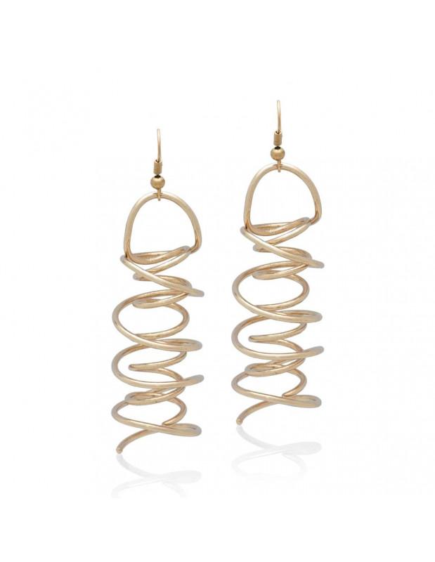 Long Earrings handmade rose gold RIDE