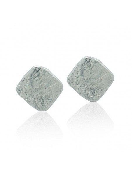 Stud Earrings of bronze handmade silver ZARI