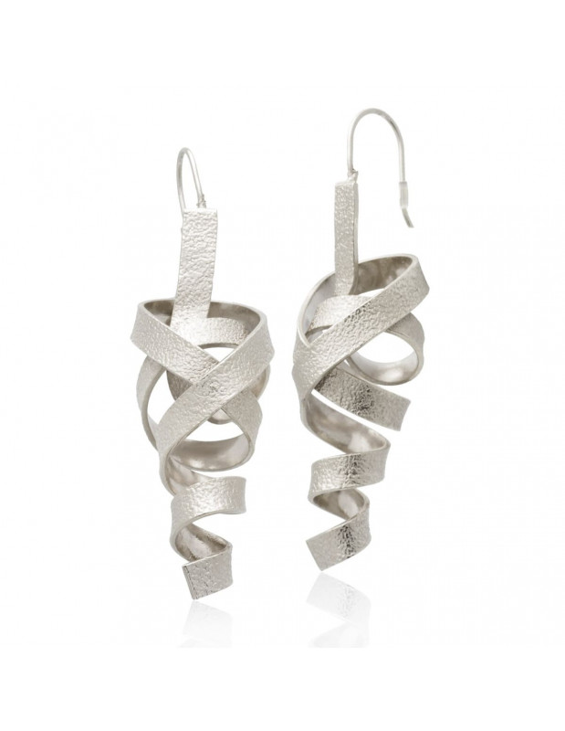 Grecian Earrings of bronze handmade silver HIAP