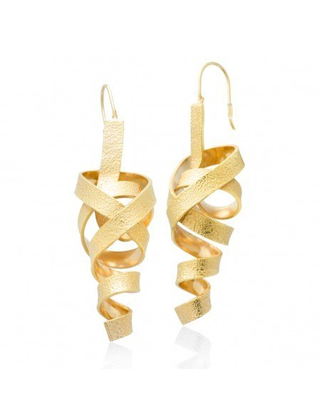 Ohrringe aus Bronze handgemacht rosegold HIAP