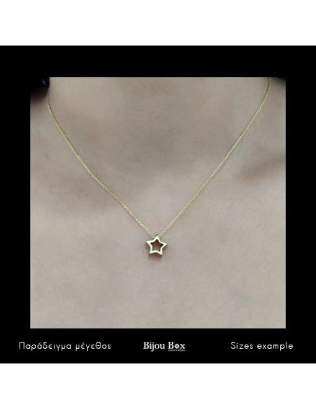Silver Necklace with star gold ASTERI 4