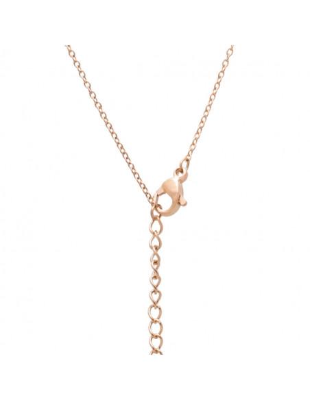 Κολιέ με όνομα Ελένη από ατσάλι ροζ χρυσό TRES 3
