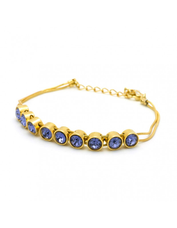 Bracelet with purple crystals gold RIVE 2