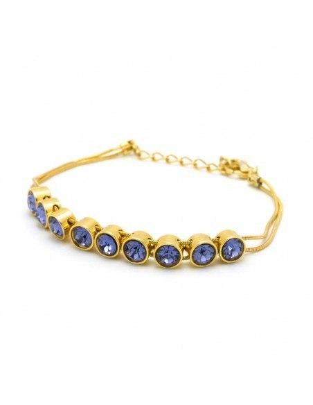 Armband mit violetten Zirkonen gold RIVE
