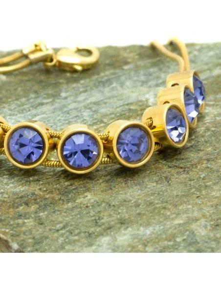 Armband mit violetten Zirkonen gold RIVE 3