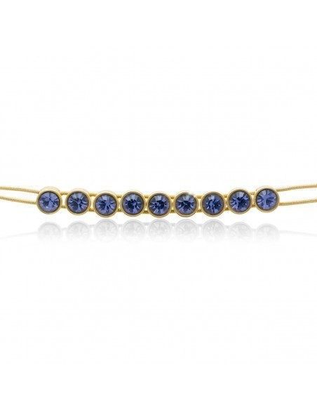Bracelet with purple crystals gold RIVE 3