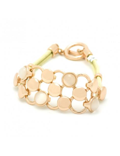 Fabric bracelet rose gold PLEGMA