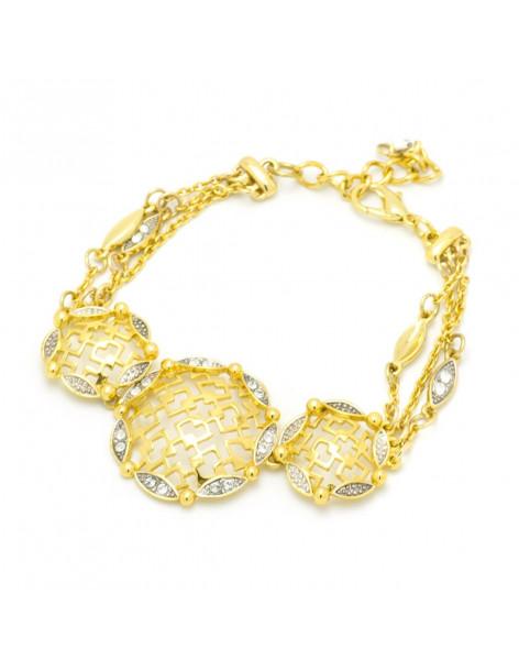 Bracelet with crystals gold SENS