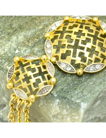 Bracelet with crystals gold SENS 3