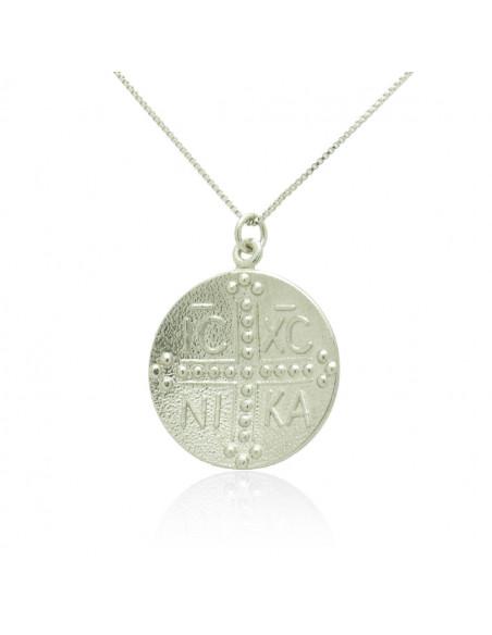 Silber Halskette Konstantin Münze VERI