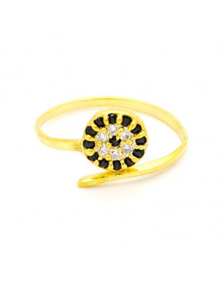 Evil eye ring of 925 sterling silver handmade gold NAZAR