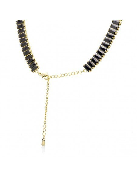 Rhinestone chain with black crystals gold SOPHIA 4