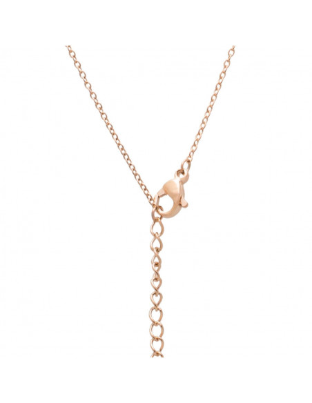 Necklace with crystals rose gold OKTA 2