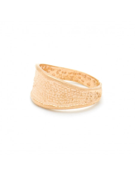 Silber Ring für kleinen Finger handgemacht rosegold REGI 4
