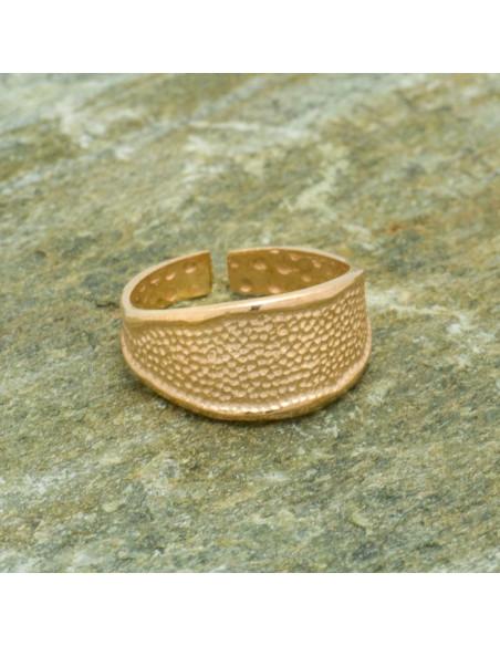 Silber Ring für kleinen Finger handgemacht rosegold REGI 5
