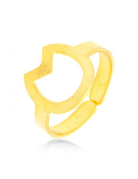 Δαχτυλίδι από  μπρούτζο χρυσό CAT