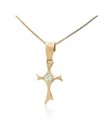 Cross Necklace of 925 Silver rose gold MEDEO