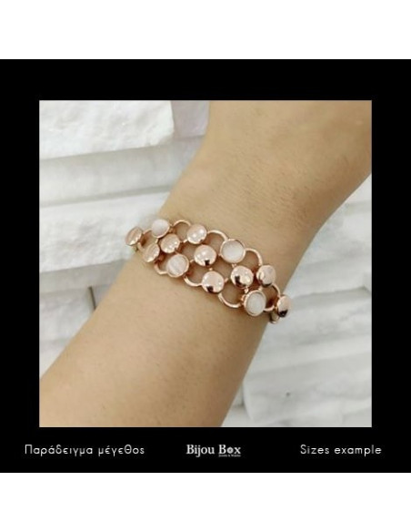 Fabric bracelet rose gold PLEGMA 2