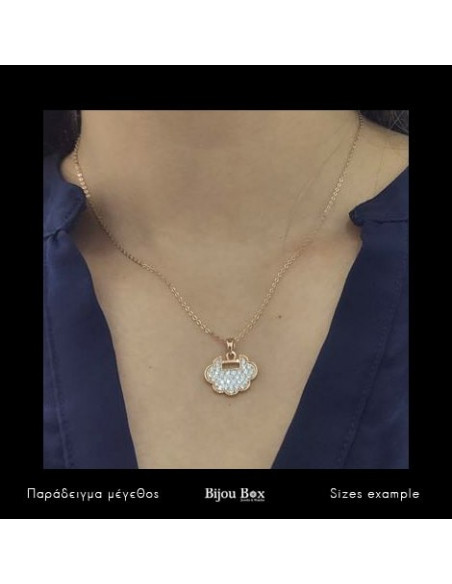 Necklace with crystals rose gold LUI 2