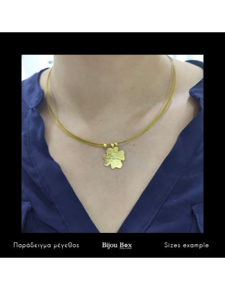 Cross Necklace gold TYXERO 3