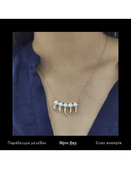 Necklace with pearls rose gold DONTI 2