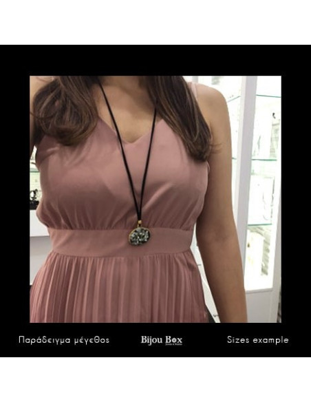 Handgefertigte Damen Halskette BLACK MATI 2