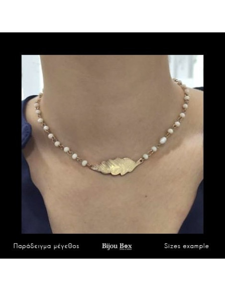 Collar Necklace with white crystals BLATO 2