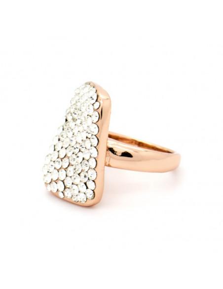 Δαχτυλίδι ρόζ επίχρυσο ατσάλι ENTIPO 2