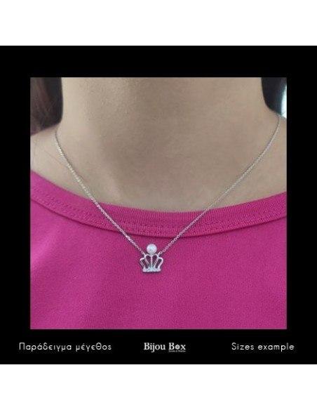 Silberkette mit Perle KRONE 2