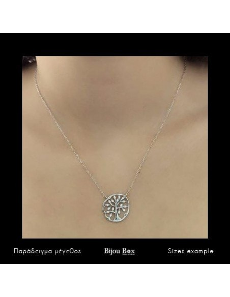 Silver Necklace life tree MARI 2