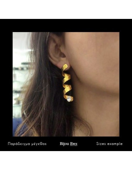 Earrings made of bronze gold HARACHTE 2
