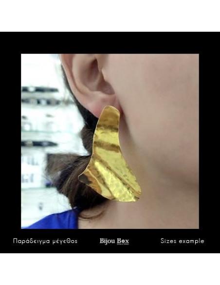 Σκουλαρίκια από μπρούντζο χρυσό SAIL 2