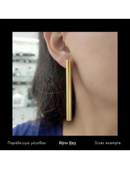 Σκουλαρίκια από μπρούντζο χρυσό PIPE 2