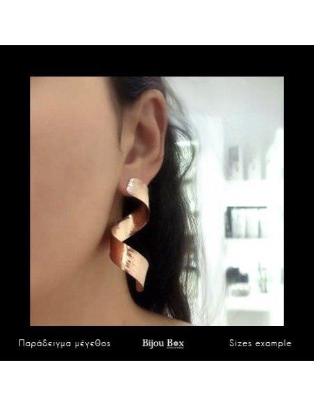 Long Earrings of bronze handmade rose gold TITANI 2