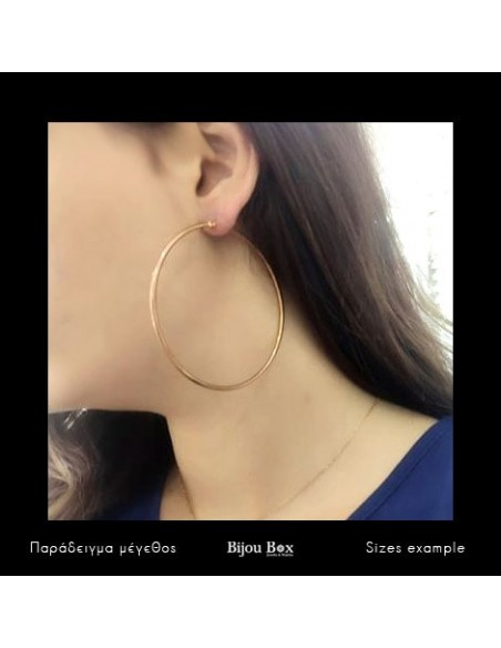 Hoop earrings 65mm of stainless steel rose gold 2