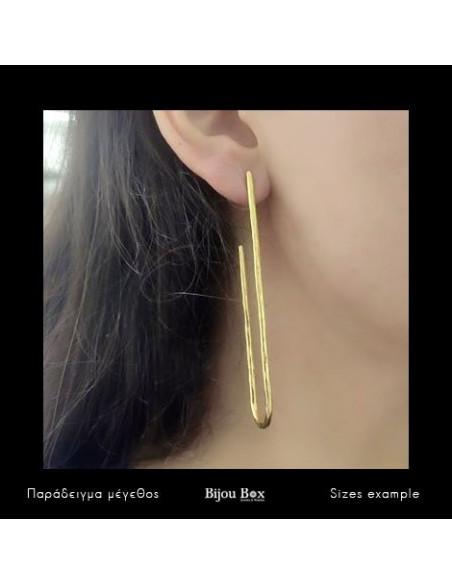 Μακριά σκουλαρίκια από μπρούτζο χρυσό BOGE 2